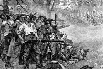 "The shots ""heard 'round the world"" at Lexington started the American Revolution."