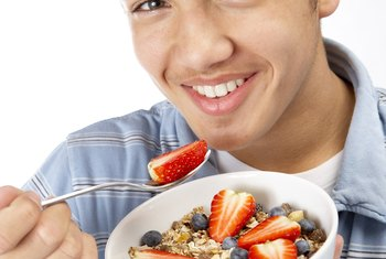 A healthy breakfast contains carbohydrates, protein, dairy and fat.