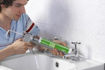 Bathroom caulk can be clear or it can match the color of your tub or wall.
