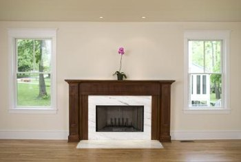 Get the elegant look of marble without the cost by painting the hearth.