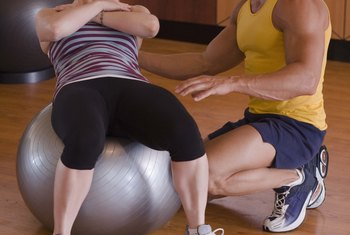 When you sit on a yoga ball of the correct size, your knees will bend 90 degrees.