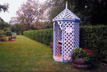 Lattice can be turned into an attractive garden structure.