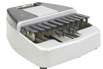 A stenography machine allows a transcriptionist to record proceedings.