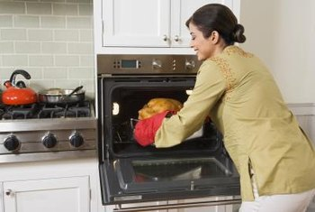 Dropping a turkey on the oven glass could shatter it.