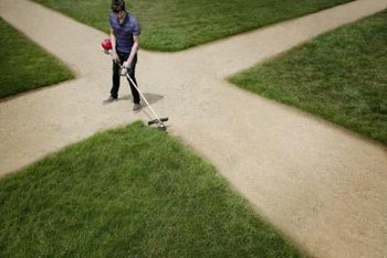 Use a Weed Eater to trim the edges of your driveway, sidewalks and pathways.