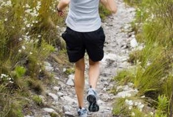 Downhill running can cause shin splints.