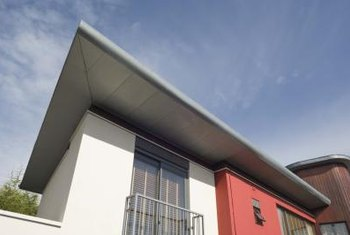 Flat roofs can be easier to walk around and clean than sloped roofs.