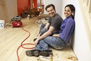 Remove old Masonite before adding floor coverings.