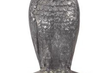 Fake predatory owls are often used to repel birds.