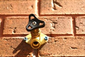Outdoor faucets require cold protection when the temperature drops.