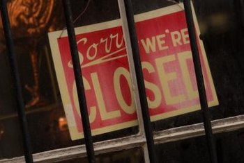 Simply closing the doors of your business does not constitute a legal abandonment.