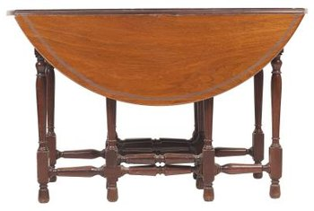 A classic drop-leaf table with gate legs is versatile.
