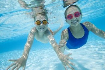 A shallow area is great for young swimmers.