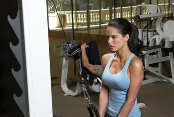 Rope pulldowns can help tighten your triceps.