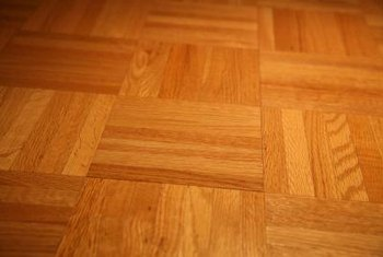 Parquet floors contain interlocking wood blocks.