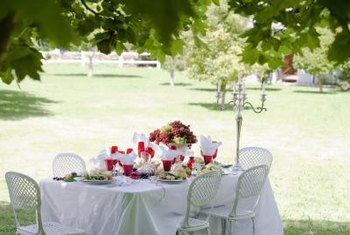 Swags add elegance to a table.