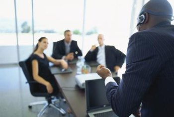 Using a wireless headset, you can include yourself or others in a meeting through teleconferencing.