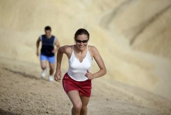 Running uphill engages both your thigh and buttocks muscles.