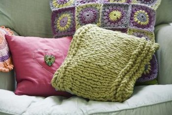 Look for materials around your home to embellish accent pillows.