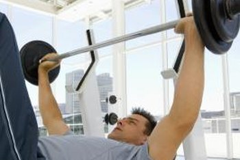 You can build muscle in your chest using dumbbells, barbells and your own body weight.