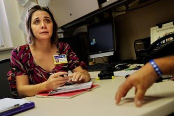 Some speech pathologists work with returning vets, whose injuries cause speech problems.