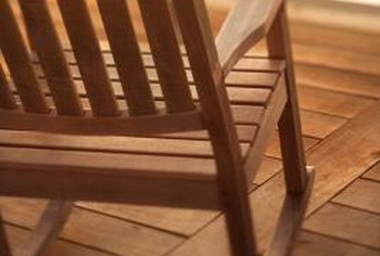 Buying an unfinished rocking chair and staining it yourself adds up to savings.