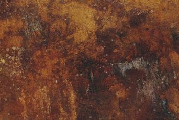 When exposed to water, iron combines with water to form iron oxide -- rust.