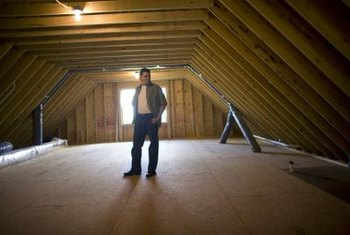 Once the attic is finished, insulation helps keep the temperature comfortable year-round.