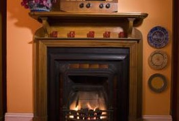 Fireplace mantels cover the header over fireplaces.