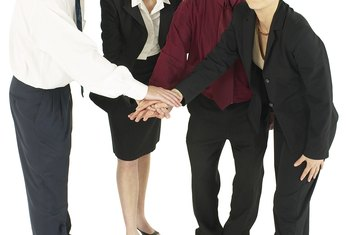 In the team structure, employees bring different areas of expertise to the group.