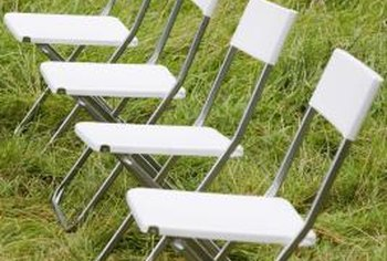 Folding chairs come in many styles.