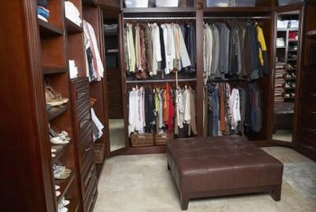A closet organizer helps to keep your wardrobe neatly arranged.