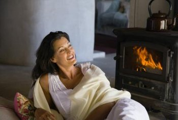 Wood-burning stoves bring a cozy warmth to a room.