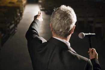 Motivational speakers may drive training efforts for the sales industry.