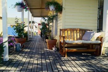 Remove all deck furniture before staining.