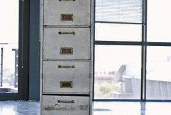 Your filing cabinet does't have to remain institutional gray.