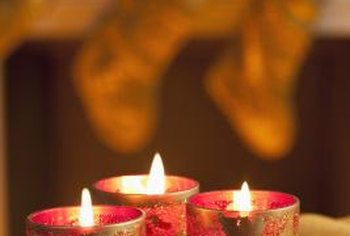 The warmth of candlelight echoes the warmth of the holidays.