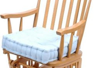 Cushions can definitely make your wooden rocking chair feel cozier.