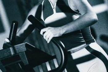 Use proper form on the stationary workout machines for equal leg toning.