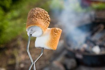 Use low-carb marshmallows to make low-carb s'mores.