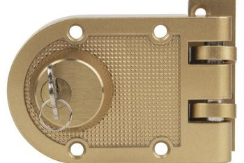 Replace a deadbolt with one that's the same size and style as the original.
