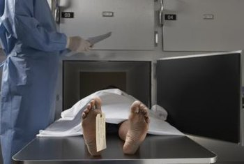 Nurse coroners use forensic science to determine time of death.