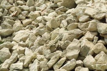 Decorative stone is similar to gravel, but comes in colors and textures in addition to gray.