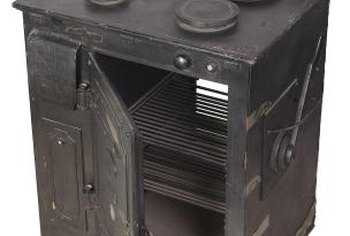 Antique woodburning cook stoves can be refurbished.