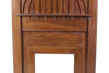 Fine woodwork and quality materials characterized Arts and Crafts mantels.