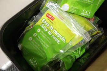 You can recycle used ink cartridges instead of throwing them away.