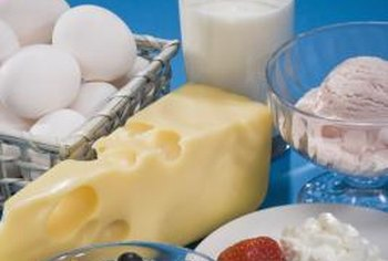 Choose low-fat dairy foods and egg whites.