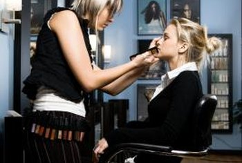 Working as a makeup artist trainee gets your foot in the door.