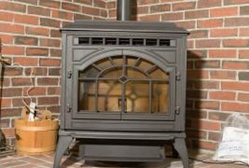 Decorating your wood stove pipe can help incorporate it into your room decor.