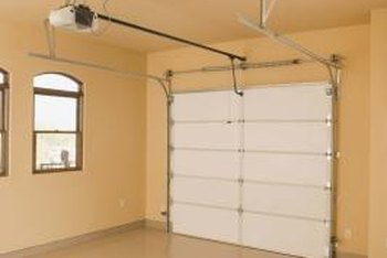 A small garage door opener can easily lift a single-car door.